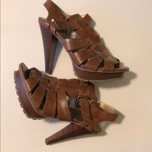 GUESS sandal heels (comfortable!!) size 6